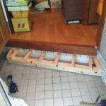 玄関框斜め